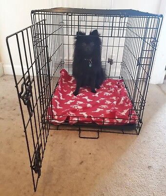 Pets at Home One Door Dog Crate X Small Black