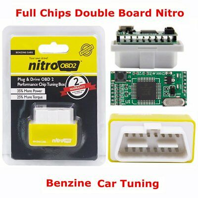 OBD2 Benzine Car ECU Chip Tuning Box Plug & Drive Engine Performance Improved 2P