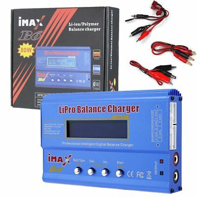 IMAX×B6AC 80W Digital Charger RC Lipo NiMh Battery Balance Charger Discharger PT