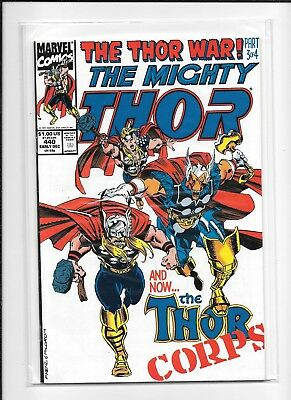 Thor #440 Higher Grade (8.5) Marvel Thor Corps