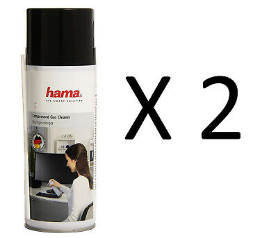 2 x 400ml Compressed Air Duster Gas Spray Cleaner Keyboard Mouse Printer 400ml