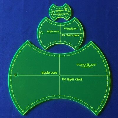 Template for cutting and patchwork - Apple Core Set 3 tempates