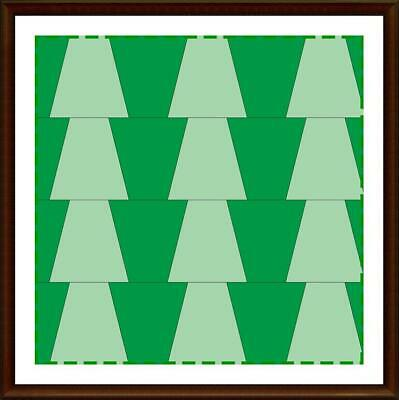 Template for cutting and patchwork - Tumbler Set 3 tempates