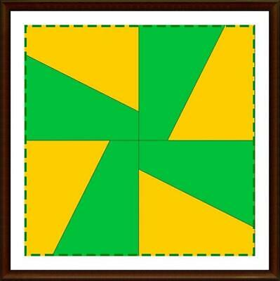 Template for cutting and patchwork - Windmill for Charm Pack