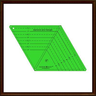 Template for cutting and patchwork - Diamond 8 inches
