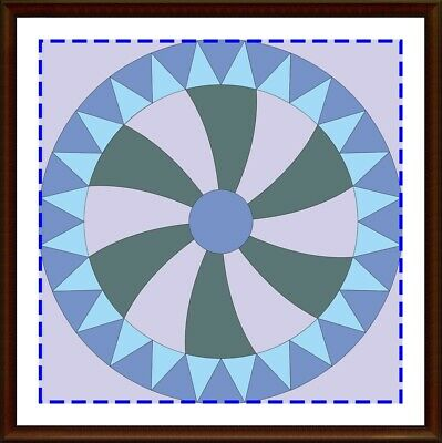 Template for cutting and patchwork - Gear Wheel 10 inches block
