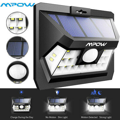 MPOW 18LED Outdoor Solar Lights Garden Wall Patio Motion Sensor Security Lamp UK