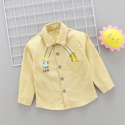 1PC Infant Boys Clothing Printed Shirts Kids Boy Clothes Tops Shirt Fit For 0-5Y
