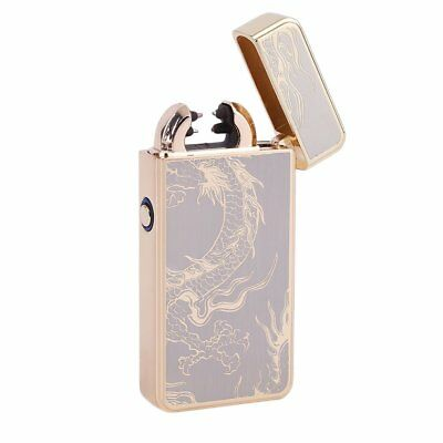 Electric Lighter Windproof Flameless Dual Arc Cigarette Plasma USB Rechargeable