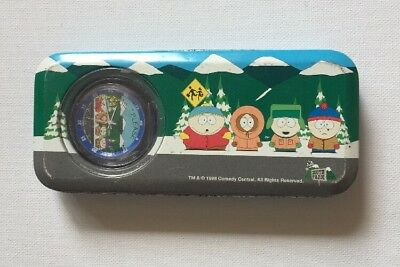 South Park Watch And Tin + Original Warranty Card RARE 1998 Collectable