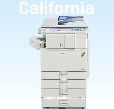 Ricoh MP C2551 Color Copier Fax Scan and Printer. 25 ppm - Very Low Meter .cn