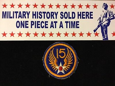 Ww2 Original 15Th Air Force No Glow Patch