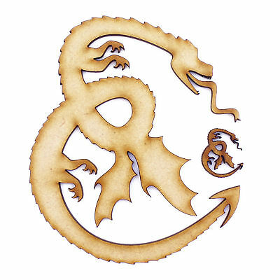 3mm MDF Wooden Laser Cut Shapes Various Sizes Dragon 04