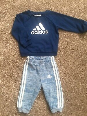Adidas Baby Boys Tracksuit 6-9 Months Jogging Bottoms, Jumper