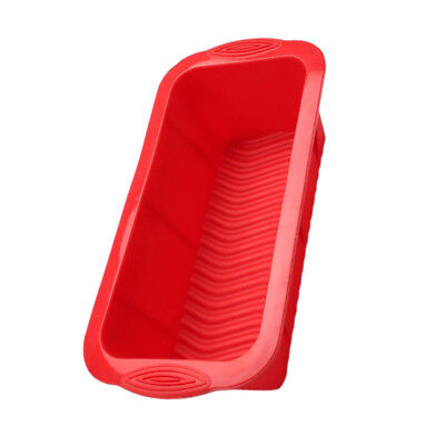 Silicone Cake Mould, Loaf Tin, Chocolate Bar Tray, Fondant Mold, Red