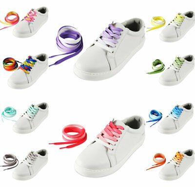 Multi-Colour Rainbow Shoe Laces Sneakers Trainers Boots Replacement Shoelaces