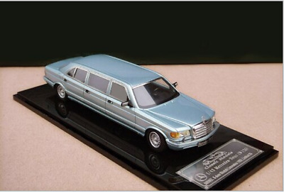 1/43 Mercedes-Benz W126 Series 500SEL 6-door Stretch Limousine 1985(Silver Blue)