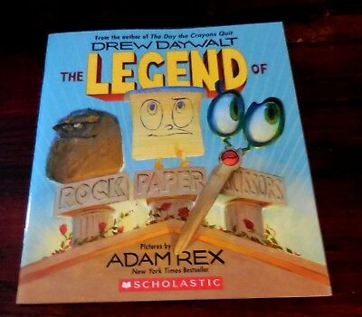 The Legend of Rock, Paper, Scissors by Adam Rex New Scholastic Book (Only) PB
