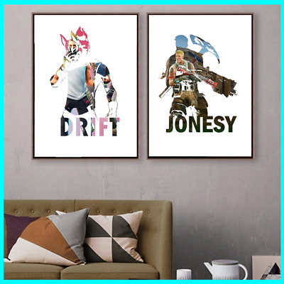 Fortnite Canvas Glossy Poster Print Carbide Vanguard Drift Reaper Wall Sticker
