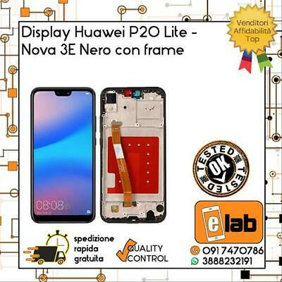 Lcd Display Touch Screen Per Huawei P20 Lite Con Frame Nero Ane-Lx1  Schermo