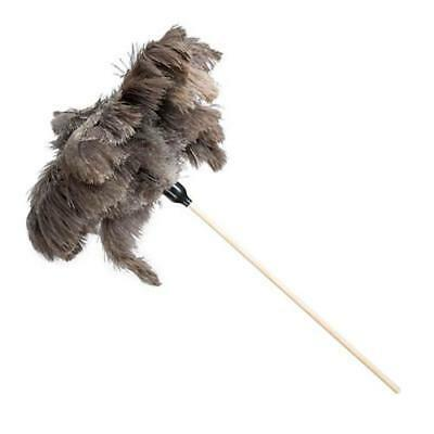 Ostrich Feather Wooden Duster Large - Natural