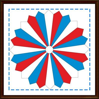 Template for cutting and patchwork - Dresden Plate 10 inches, 15°, 24 pieces
