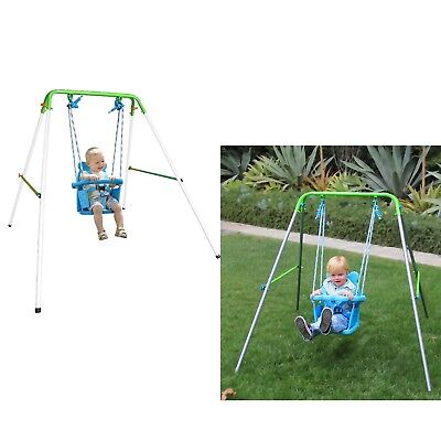 Portable Baby Toddler Outdoor Garden Play Swing Set Safety Swing