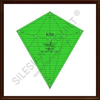 Template for cutting and patchwork - Kite diamond 10 inches 30°-60°-90°-120°