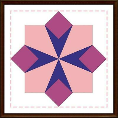 Template for cutting and patchwork - Maltese Cross for Charm Pack