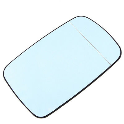 Left Driver Side Blue Door Wing Mirror Glass Heated Base For BMW E46 E65 318 320