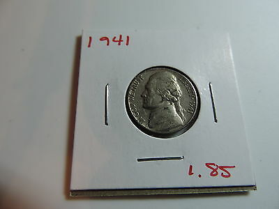 1941 US American Nickel coin A561