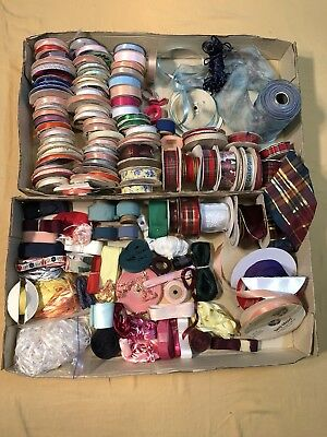 Crafters Surplus of Ribbons Galore! 100+ All Colors - Sizes and Textures