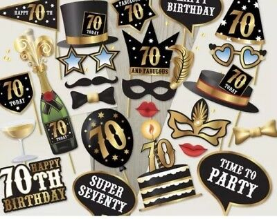 70th Birthday Photo Booth Props Ready Made Seventieth Party Party 0117