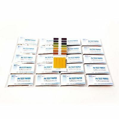 Iodine For Life PH Test Strips (1-14) 20 Books 80 Strips Each. Best for Testing