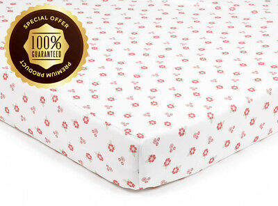 BreathableBaby Super Dry Cot Bed Sheets In English Garden (Pack of 2)