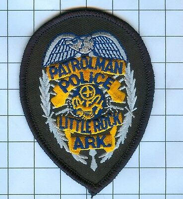 Police Patch Embroidered Mini-Patch  - Arkansas - Patrolman Little Rock