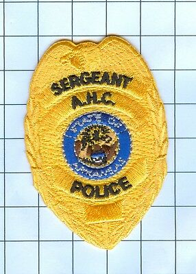 Police Patch Embroidered Mini-Patch  - Arkansas - Sergeant A.H.C.