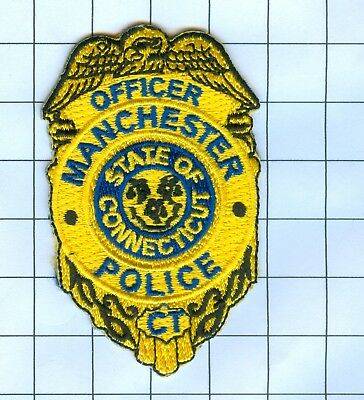 Police Patch Embroidered Mini-Patch  - Connecticut - Officer Manchester