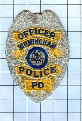 Police Patch Embroidered Mini-Patch  - Alabama - Officer Birmingham