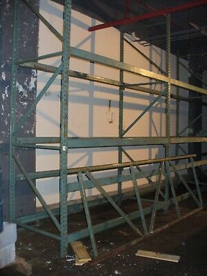 "Pallet Rack Lot of 3 Uprights 12""H x 42""D, 3.5"" Thick & 14 Beams, More Available"
