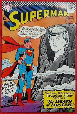 Superman 194 DC Silver Age 1967 The Death of Lois Lane