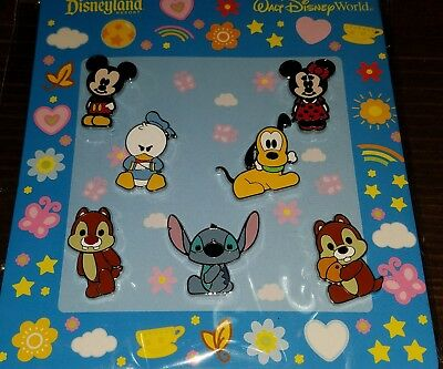 Disney Pins CUTE FAB CHARACTER Full Body Authentic 7 Pin Booster Set REDUCED