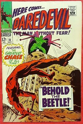 DAREDEVIL 33 MARVEL SILVER AGE 1967 Behold The Beetle