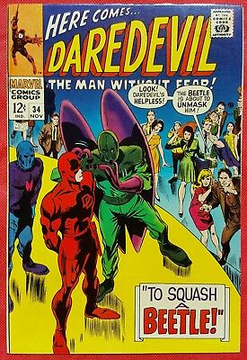 DAREDEVIL 34 MARVEL SILVER AGE 1967 Behold The Beetle