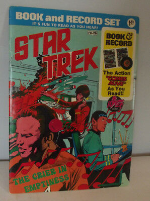 Vintage Star Trek Book and Record Set 1975 Power Records The Crier Free Shipping
