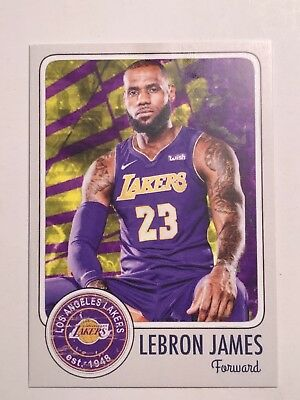 LEBRON JAMES 2018 NEW Transition CUSTOM CARD Cavalier TO Los Angeles Laker MT
