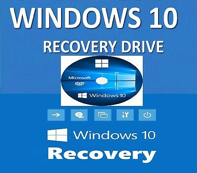 WIN 10, 64 Bit OEM Install System Recovery Software DVD Disc - 2018 x 1