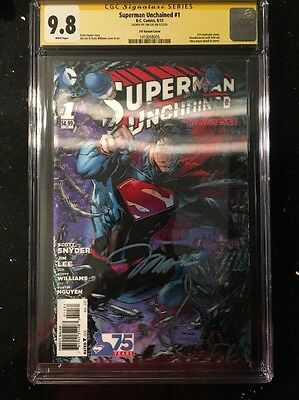 Superman Unchained #1 HTF 3D Variant Cover SS CGC 9.8 Signed By Jim Lee