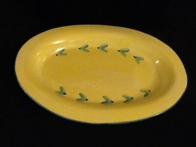 Cute Caleca Carousel Ceramic Serving Platter Yellow And Green Italy 16""