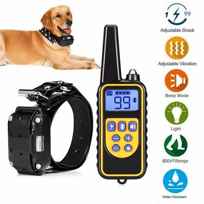 Puppy Dog Shock Collar with Remote Electric 875 Yard Large Pet Training Durable